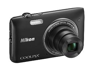 """Nikon Coolpix S3500 Appareil photo numérique compact 20,48 Mpix Ecran 2,7"""" Zoom optique 7x Noir"""