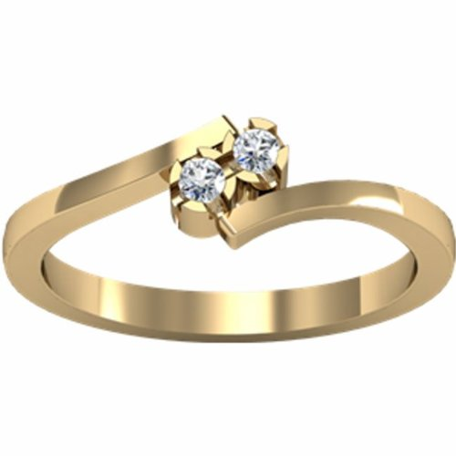 14K Yellow Gold Promise Diamond Ring - 0.06 Ct. - Size 5