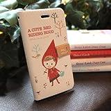 Shinzi Katoh design iphone4 / iphone4s用 ダイアリー式  カバー YP100-04 Walking red hood