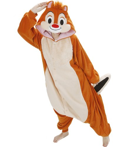 Disney Chip and Dale Kigurumi Adult Pyjamas / Fancy Dress Dale Costume Kigurumi