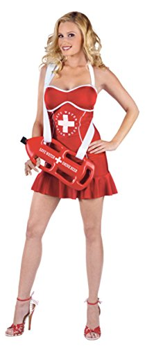 Funworld Womens Comical Sexy Off Duty Lifeguard Pin Up Adults Halloween Costume