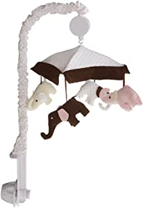 Carter's Pink Elephant Musical Mobile, Pink/Choc