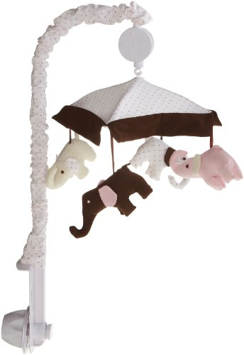 Carter's Pink Elephant Musical Mobile, Pink/Choc (Discontinued by Manufacturer)