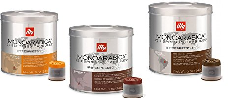 Purchase Illy Iperespresso Monoarabica Capsules Variety Pack, 21-Count Capsules (Pack Of 3) - Illy