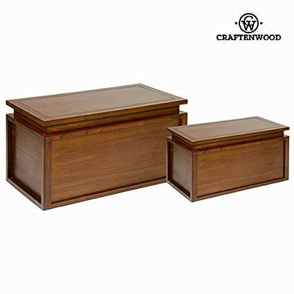 Set 2 bauli in legno - Let's Deco Collezione by Craften Wood (1000026138)