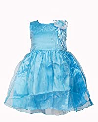 Softouch Baby Girls' Frock (Sky Blue_12-18 Months)