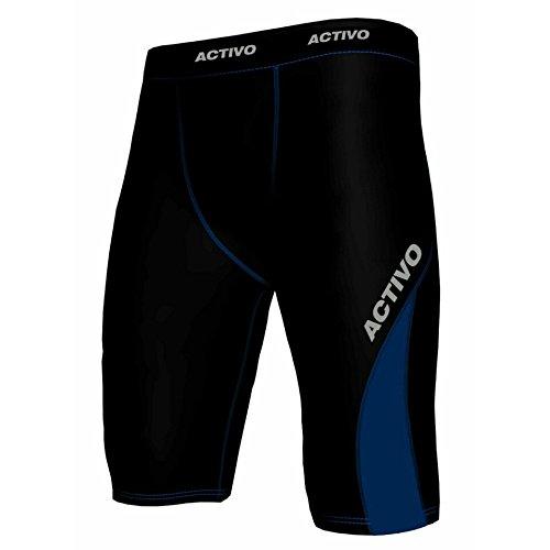 Activo -  Pantaloncini  - Uomo Black/Blue L (33-35W)