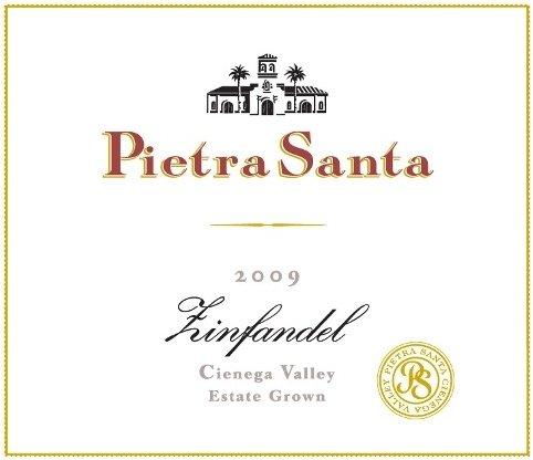 2009 Pietra Santa Estate Grown Cienega Valley Zinfandel 750 Ml