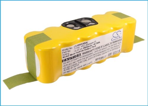 Battery2Go - 1 Year Warranty - 14.4V Battery For Irobot Roomba 550, Roomba 535, Roomba 780, Roomba 770, Roomba 760