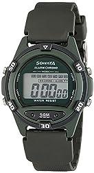 Sonata Digital Green Dial Mens Watch - 77046PP02J
