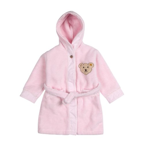 Steiff Unisex - Baby Bademantel, Rosa (2560 ), 116 (Herstellergröße: 110/116)