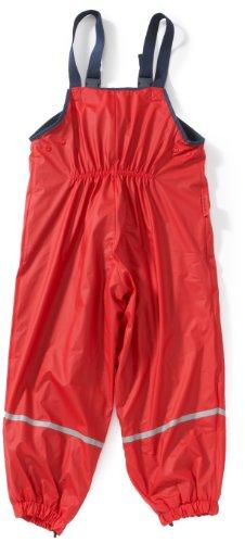 Playshoes Fleece-Regen-Latzhose 408622 Unisex - Kinder Hosen/Lang Rot 116 -