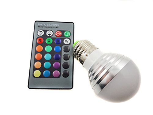 Super Bargain!!! New Model!! Dimmable E27 Led Light Bulb And Ir Remote Controller Magic Lighting 16 Colors , Home