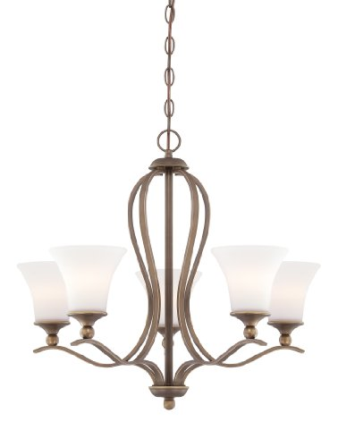 Quoizel SPH5005PN Sophia 5-Light Chain Hung Chandelier, Palladian Bronze