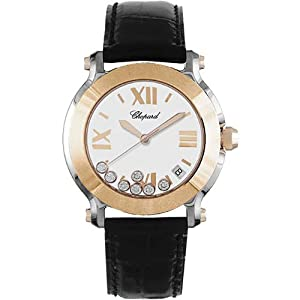 Chopard Happy Sport Round Womens Two Tone Diamond Watch 278492-9001 by Chopard