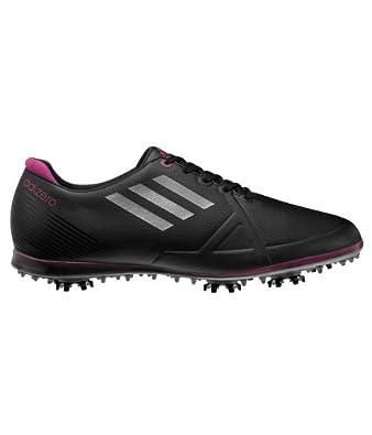 Adidas W Adizero Tour Ladies Golf Shoe (UK 4, Black)