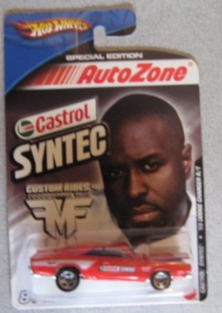 Hot Wheels Castrol Syntec '69 Dodge Charger R/T RED Auto Zone Special Edition
