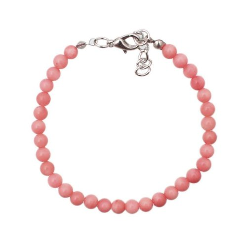 Bracelet made of pink coral in 5mm beads