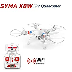 Syma X8W Explorers WiFi FPV RC Quadcopter with 2MP Camera RTF Mode2 - White