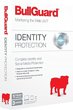 BullGuard Identity Protection Retail Box - 1 Year Cover, Covering Three Facebook accounts