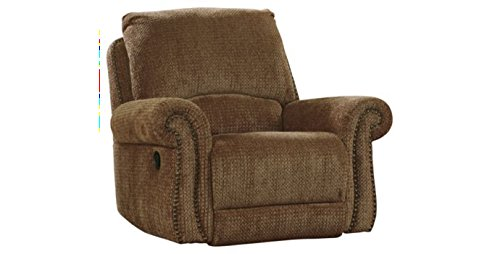 Macnair Traditional Umber Tone Thick Chenille Fabric Swivel Glider Recliner front-910164
