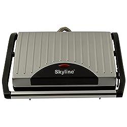 SKYLINE GA-017 GRILL Sandwich Maker (Silver)
