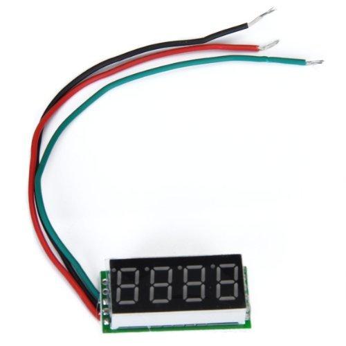 0.36 Zoll 4 Digitale Panel Voltmeter 0-33V Rote LED Voltmeter