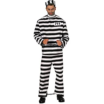 Adult Prisoner Man Costume - Small