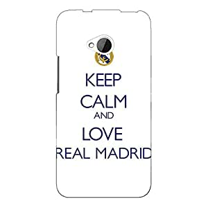 Jugaaduu Real Madrid Back Cover Case For HTC One M7