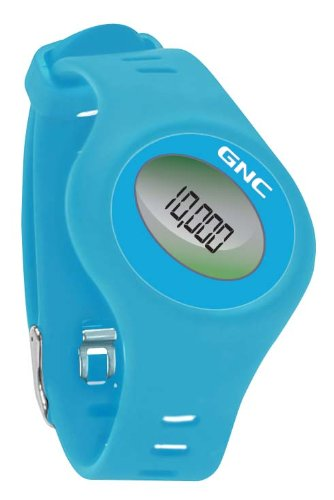 GNC Bluetooth Waist Clip and Watch Band Pedometer, Blue