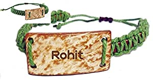 with engraved text: Rohit (first name, last name, nickname): Jewelry