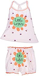 Amy Baby Girls' Dress (B22_2_6-12 Months, Peach, 6-12 Months) - Special Offer with Free Delivery - 100% Cotton Exclusive Kidswear