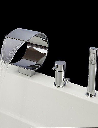 kissrainr-vasca-da-bagno-rubinetto-contemporanea-cascata-handshower-incluso-ottone-chrome