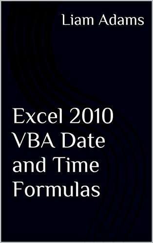 Excel 2010 Vba Date And Time Formulas front-661116