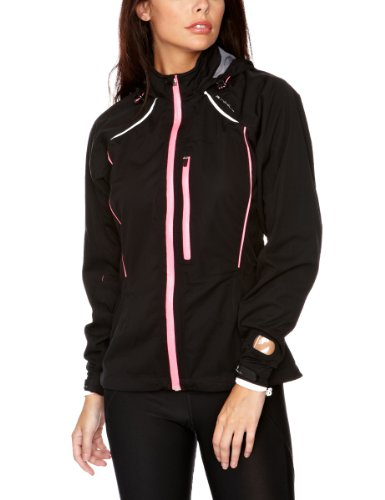 Ronhill Women's Vizion Storm Jacket - Black/Flou Pink, 14 UK