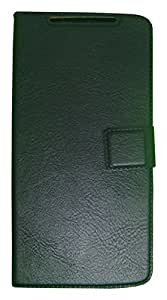 Zocardo Faux Leather Flip Case Flip Diary Cover For Intex Aqua R4 Plus -Black with Stand , Magnetic Lock