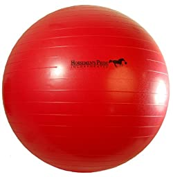 Horsemen\'s Pride 25-Inch Mega Ball for Horses, Red