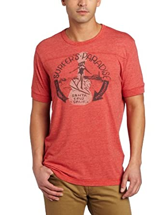 Lucky Brand Men's Surfers Paradise Graphic Tee, Heather Red, Small