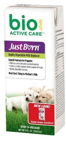 Bio Spot Active Care Just Born Milke Replacer For Puppies Liquid Formula 8 Oz front-1008753