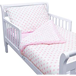 4-piece Toddler Bedding Set, Pink