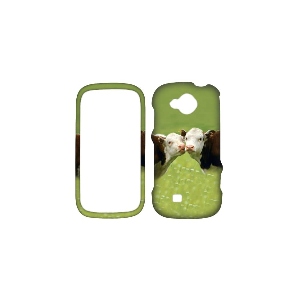 Kiss Cow Love Snap on Design Case Hard Case Skin Cover Faceplate for Samsung