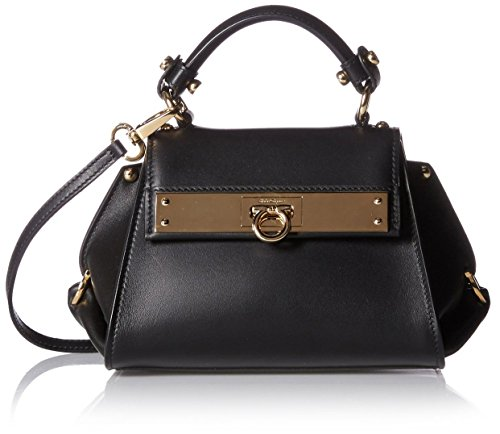 Salvatore-Ferragamo-Womens-Leather-Cross-Body-Bag-Nero
