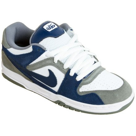 Nike 6.0 Zoom Oncore Skate Shoe - Men's Tumbled Grey/Midnight Navy, 10.0