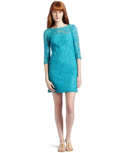 Trina Turk Women's Atlantis Dress, Bimini Blue, 6