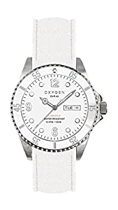 Oxygen White Bear 36 Unisex Quartz Watch with White Dial Analogue Display and White Leather Strap EX-D-WHI-36-CL-WH