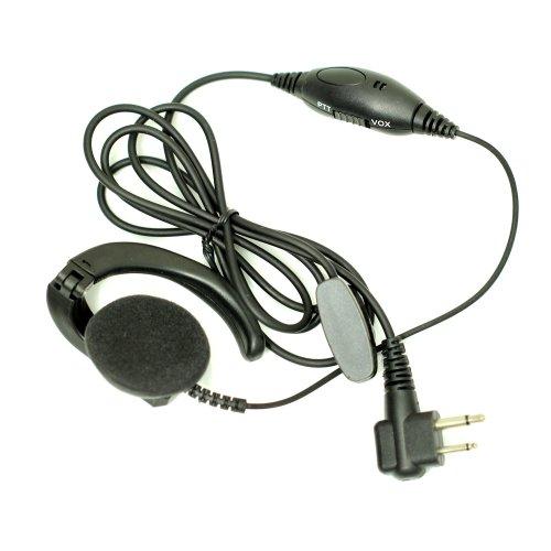 Advanced Earpiece Headset Ptt/Vox For 2-Pin Motorola Radio Cp040 Cp200 Xtni Dtr Vl50