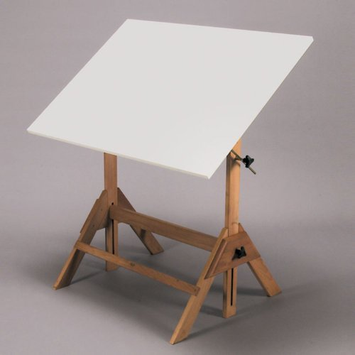 Royal Elm Drafting Table with 30x42 inch Top by Martin Universal