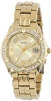 GUESS Womens U85110L1 Dazzling Sporty Mid-Size Gold-Tone Watch