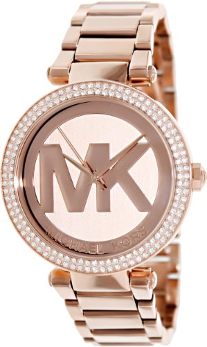 Michael Kors Women's 39mm Rose Steel Bracelet & Case Quartz Analog Watch MK5865