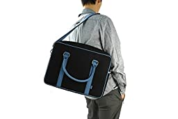 M.R.K.T. Martin 222512B Briefcases, Black/Lake Blue, One Size